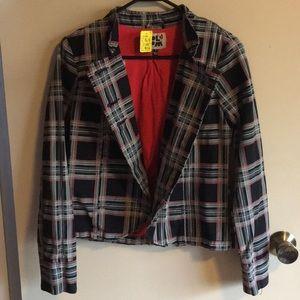 Volcom, Double Breasted, Plaid, Blazer